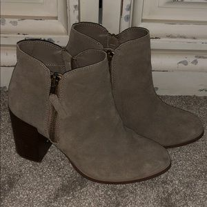 Grey Suade Booties